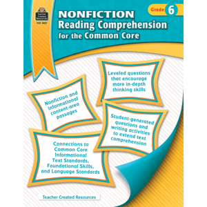 TCR3827 Nonfiction Reading Comprehension for the Common Core Grade 6 Image