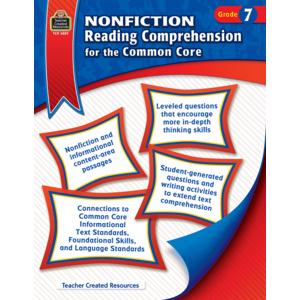 TCR3829 Nonfiction Reading Comprehension for the Common Core Grade 7 Image
