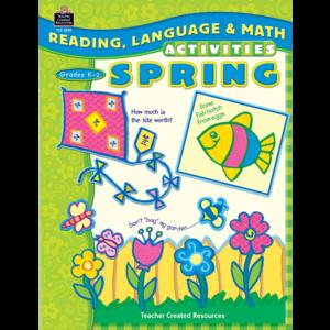 TCR3890 Reading, Language & Math Activities: Spring Image