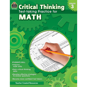 TCR3946 Critical Thinking: Test-taking Practice for Math Grade 3 Image