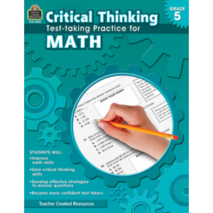 TCR3952 Critical Thinking: Test-taking Practice for Math Grade 5 Image