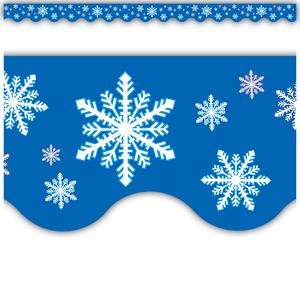 TCR4139 Snowflakes Scalloped Border Trim Image