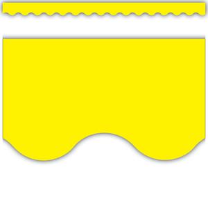 TCR4175 Yellow Scalloped Border Trim Image