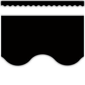 TCR4397 Black Scalloped Border Trim Image