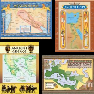 TCR4422 Ancient Civilizations Bulletin Board Display Set Image