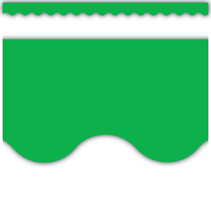 TCR4607 Green Scalloped Border Trim Image