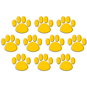 TCR4645 Gold Paw Prints Accents Image