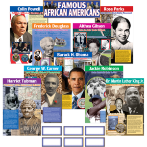 TCR4752 Famous African Americans Bulletin Board Display Set Image