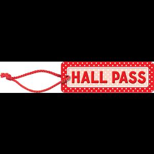 TCR4753 Polka Dots Hall Pass Image