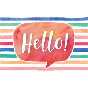 TCR4764 Watercolor Hello Postcards Image