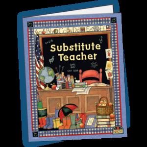 TCR4836 Substitute Teacher Pocket Folder from Susan Winget Image