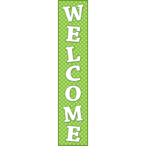TCR4854 Lime Polka Dots Welcome Banner Image