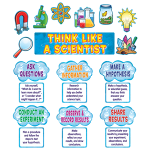 TCR4867 Think Like a Scientist Mini Bulletin Board Image