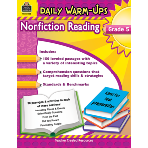 TCR5035 Daily Warm-Ups: Nonfiction Reading Grade 5 Image