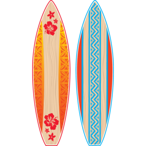 TCR5090 Giant Surfboards Bulletin Board Display Set Image