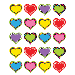 TCR5185 Fancy Hearts Stickers Image