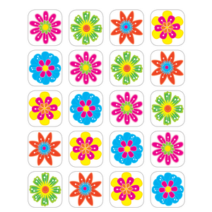 TCR5201 Fun Flowers Stickers Image