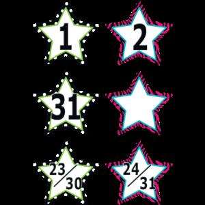 TCR5217 Fancy Stars Calendar Days Image