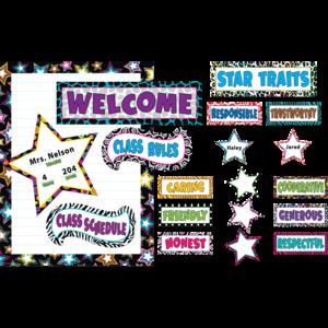 TCR5220 Fancy Stars Bulletin Board Display Set Image