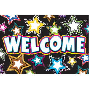 TCR5225 Fancy Stars Welcome Postcards Image