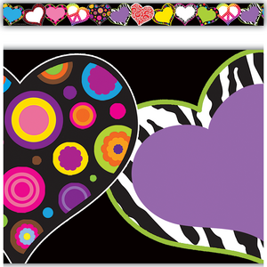 TCR5255 Fancy Hearts Straight Border Trim Image