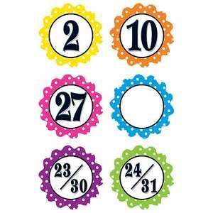 TCR5279 Polka Dot Flowers Calendar Days Image