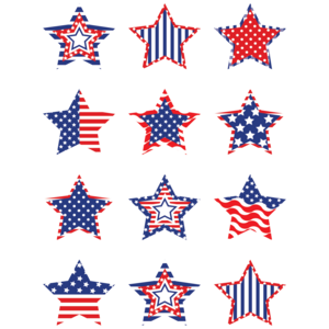 TCR5336 Patriotic Stars Mini Accents Image