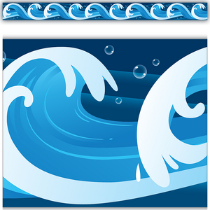 TCR5358 Ocean Waves Straight Border Trim Image