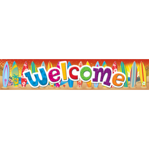 TCR5388 Surf's Up Welcome Banner Image
