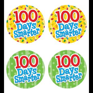 TCR5393 100 Days Smarter Wear 'Em Badges Image