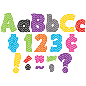 """TCR5454 Chevron Funtastic 4"""" Letters Combo Pack Image"""