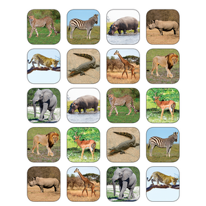 TCR5468 Safari Animals Stickers Image
