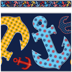 TCR5476 Anchors Straight Border Trim Image