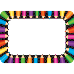 TCR5513 Colored Pencils Name Tags/Labels Image