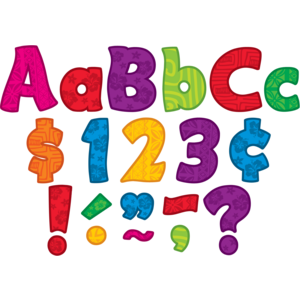 "TCR5518 Surfs Up Funtastic 4"" Letters Combo Pack Image"