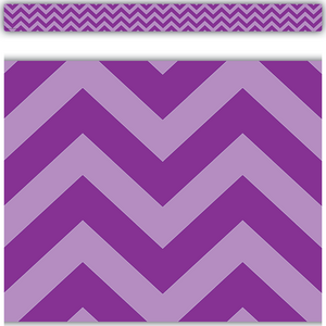 TCR5540 Purple Chevron Straight Border Trim Image