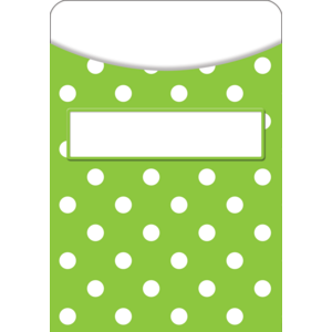 TCR5551 Lime Polka Dots Library Pockets Image