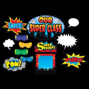 TCR5568 Superhero Bulletin Board Display Set Image