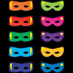 TCR5591 Superhero Masks Accents Image