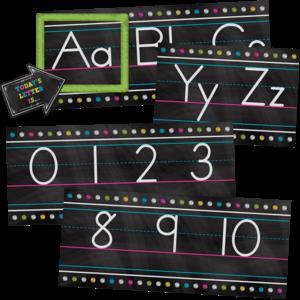 TCR5621 Chalkboard Brights Alphabet Line Bulletin Board Set Image