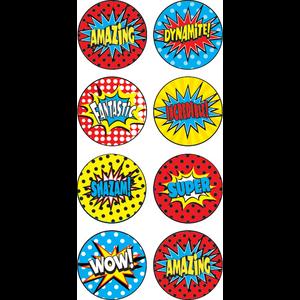 TCR5642 Superhero Mini Stickers Image