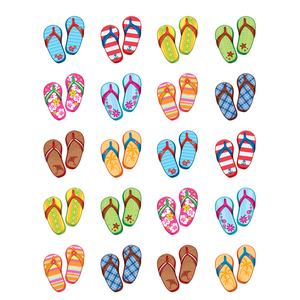 TCR5649 Flip Flops Stickers Image