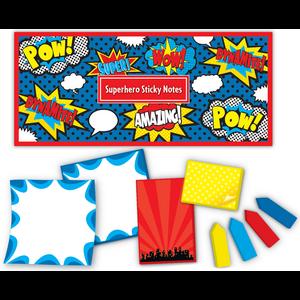 TCR5664 Superhero Sticky Notes Image