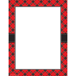TCR5695 Red Plaid Computer Paper Image