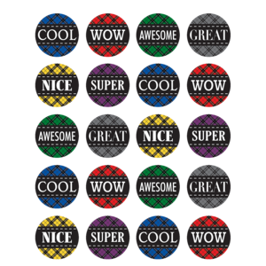 TCR5697 Plaid Stickers Image