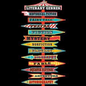 TCR5714 Carnival Literary Genres Mini Bulletin Board Image