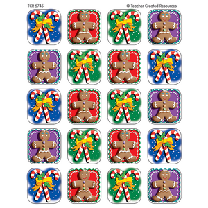 TCR5745 Candy Canes/Gingerbread Stickers Image