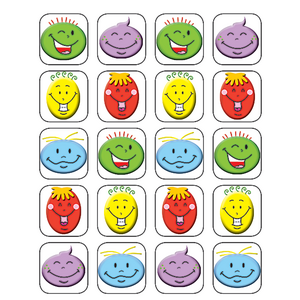 TCR5759 Silly Smiles Stickers Image