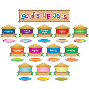 TCR5786 Surfs Up Jobs Mini Bulletin Board Image
