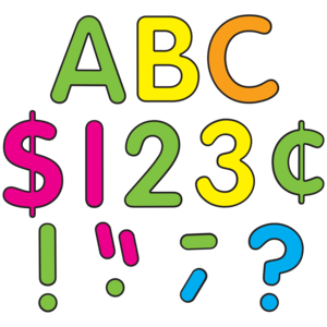 """TCR5815 Neon Brights Classic 4"""" Letters Uppercase Pack Image"""